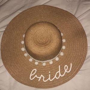 75d7c8b06f997 Taking it Easy Accessories - Bride floppy hat